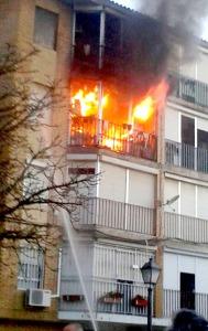 piso en llamas